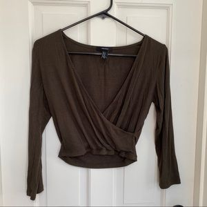 Forever 21 wrap crop